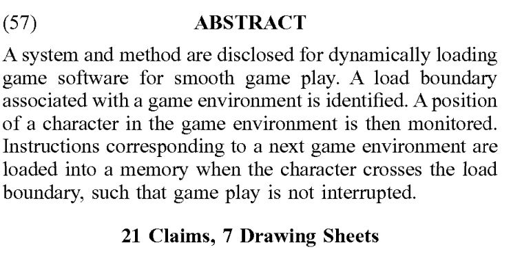 PS5 Dynamic Loading patent