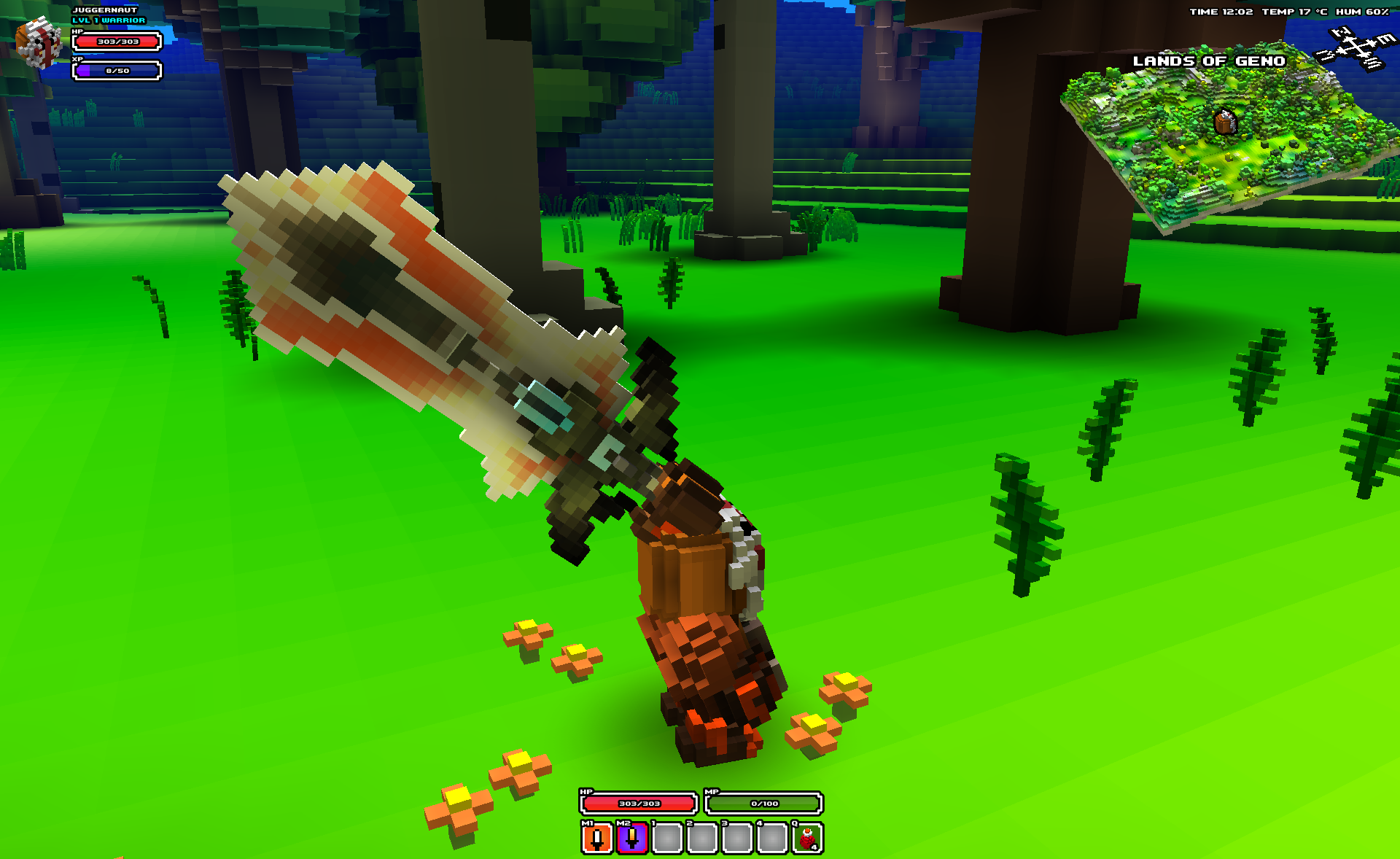 Cube World Weapons