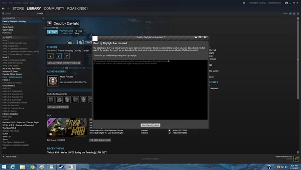 Dead By Daylight Windows Crash