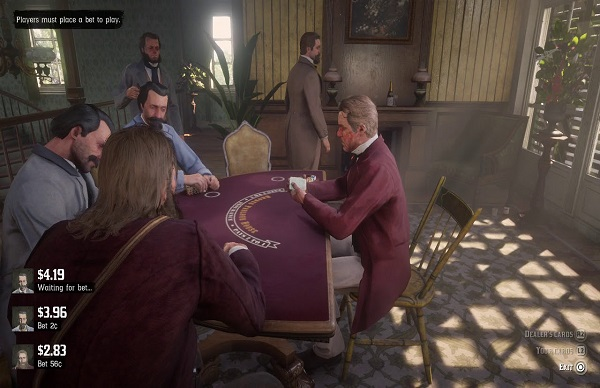 Red Dead Redemption 2 table games