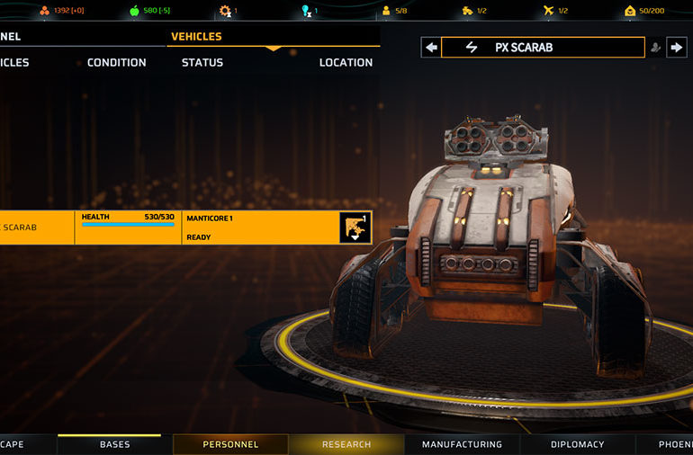 Phoenix Point Vehicles