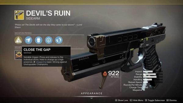 Destiny 2 Devil's Ruin