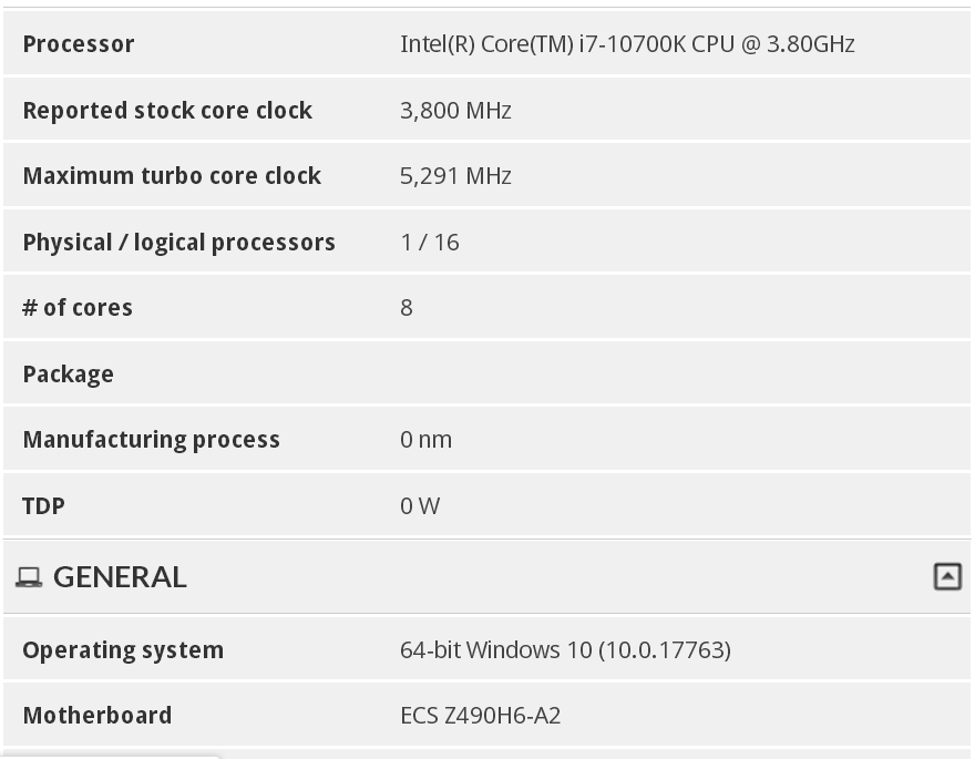 Intel i7 10700K Can Turbo Boost
