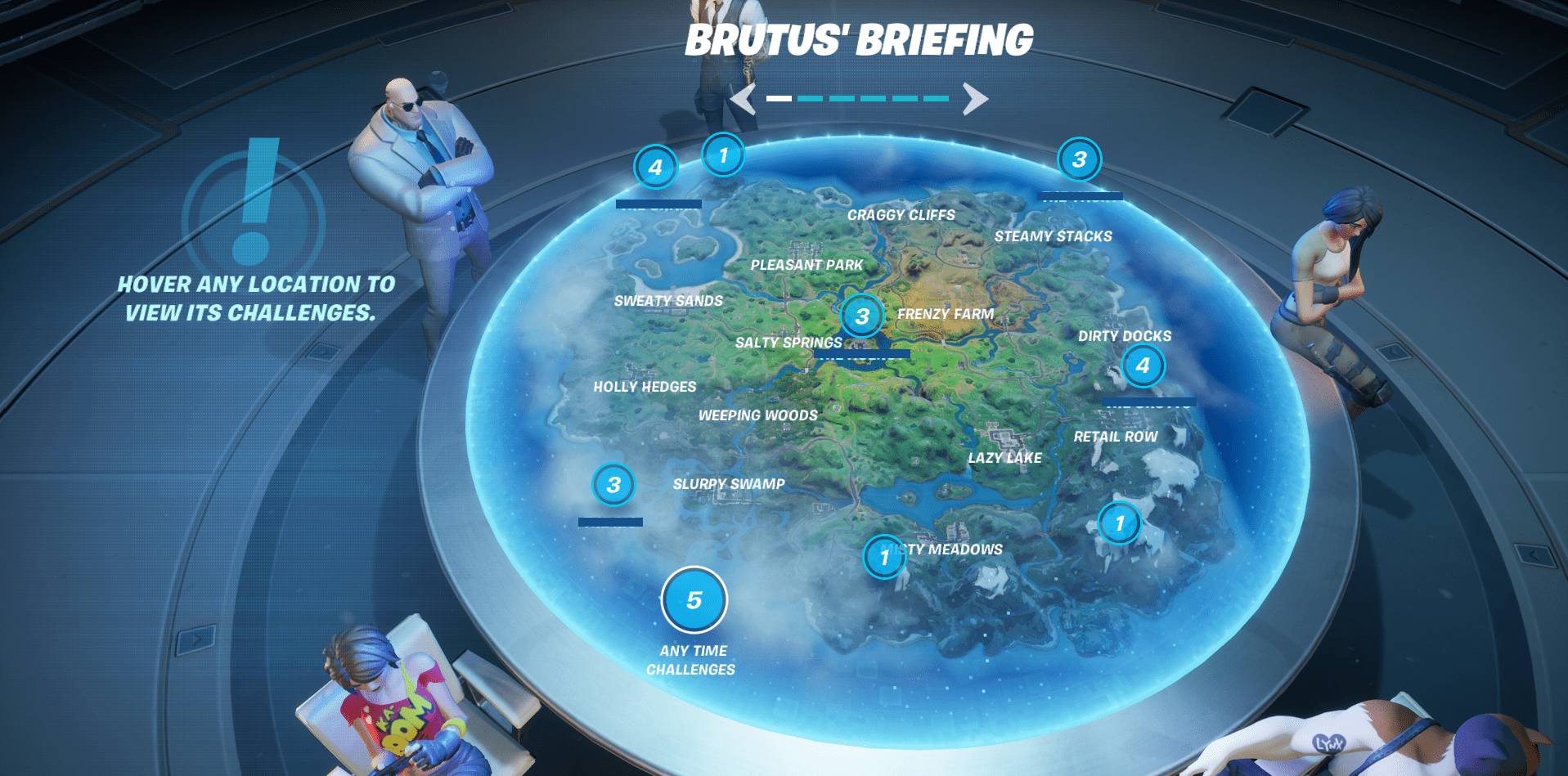 Fortnite Brutus Briefing Challenges