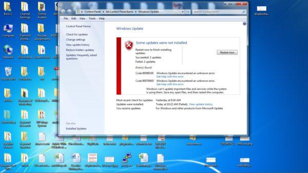 Windows Update Error 800B0100