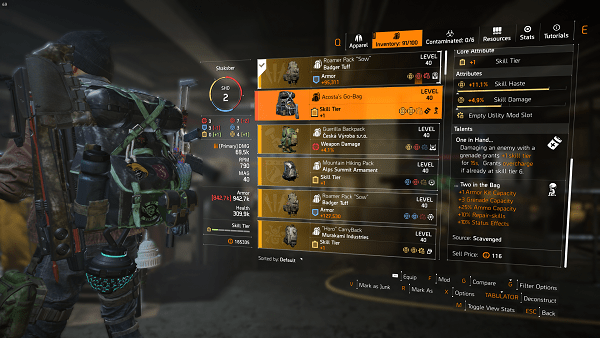 The Division 2 Warlords of New York Acosta's Go-Bag Exotic Backpack Guide
