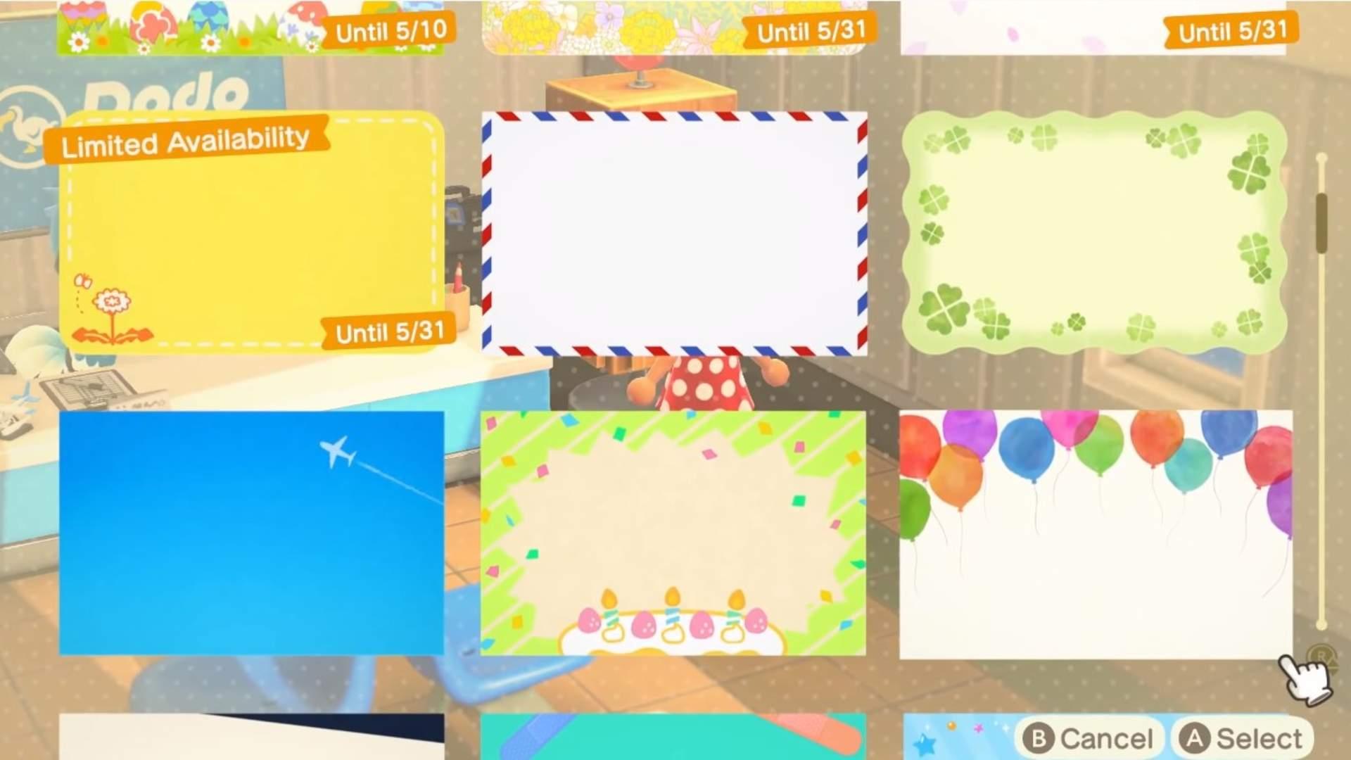 Animal Crossing: New Horizon Mail