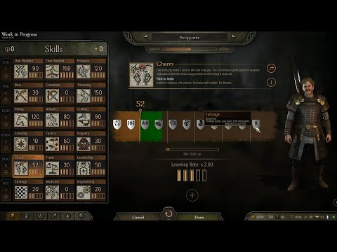 Mount and Blade 2: Bannerlord skills