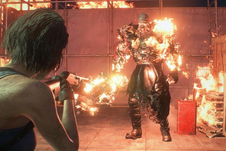 Resident Evil 3 Remake Nemesis fight