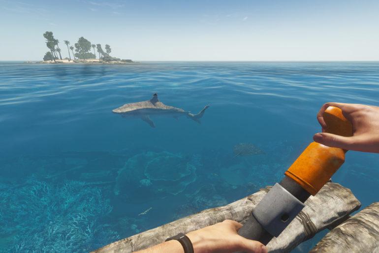 Stranded Deep tiger shark