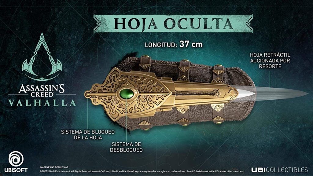 Assassins Creed Valhalla Hidden Blade Replica Figurine