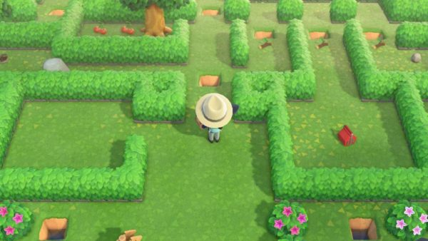 Animal Crossing May day tour maze