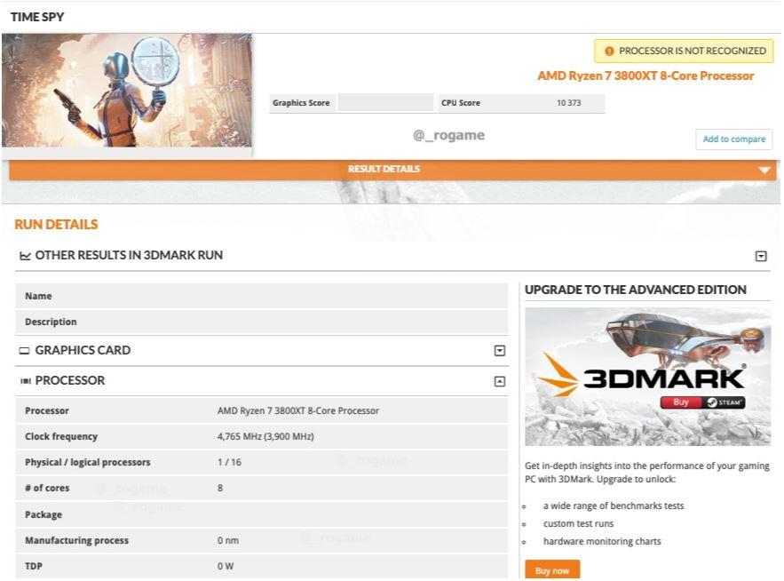 AMD Ryzen 3800XT Benchmark
