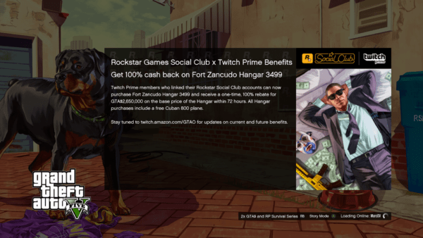 GTA Online Twitch Prime