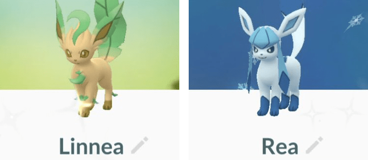 Pokemon Go Leafeon Glaceon