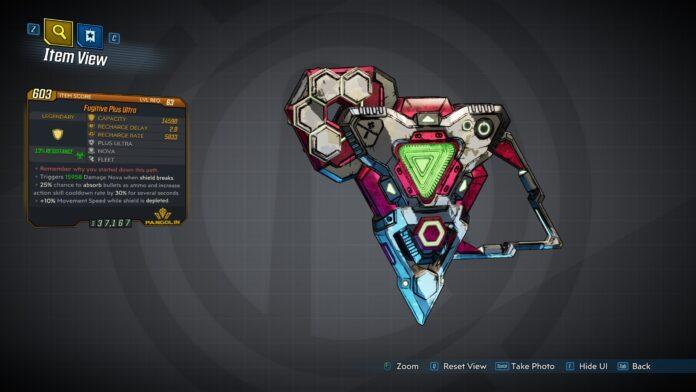 Borderlands 3 Psycho Krieg and Fantastic Fustercluck Plus Ultra Legendary Shield