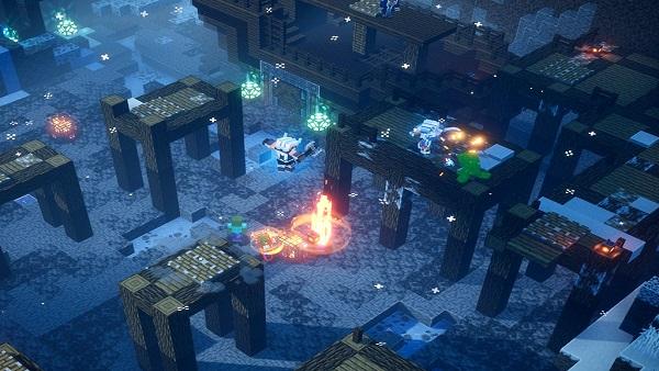 Minecraft Dungeons Creeping Winter Armor sets