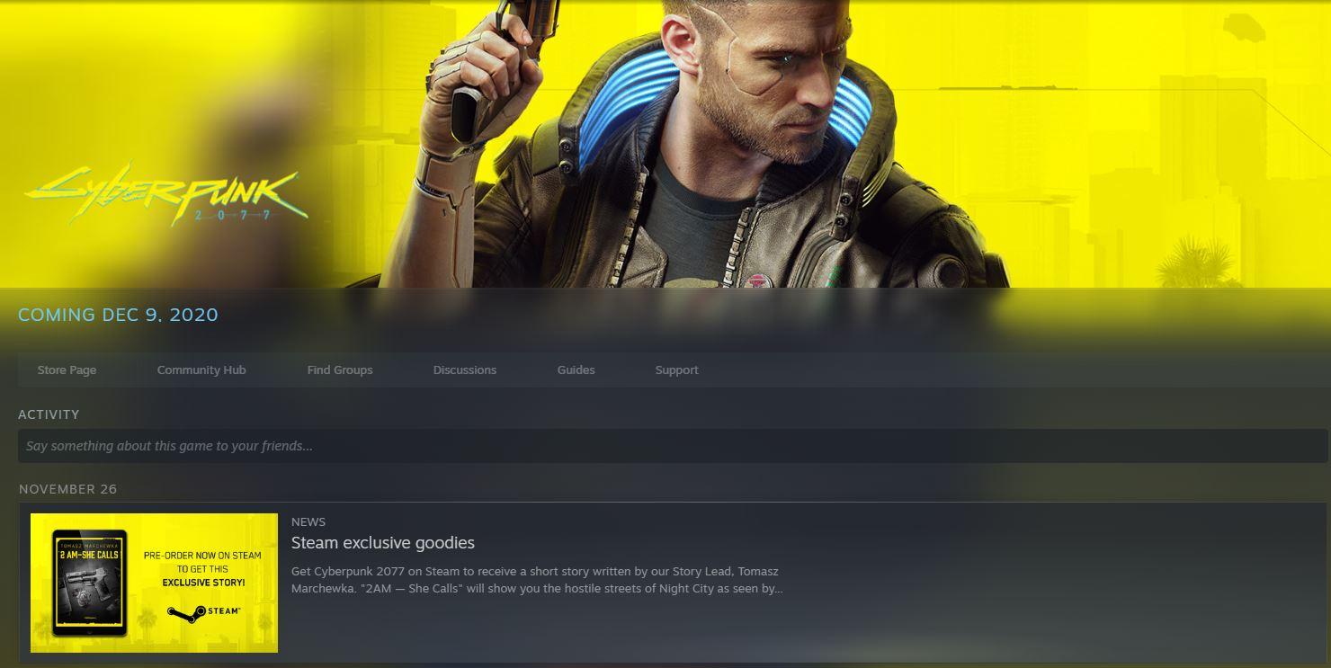 Cyberpunk 2077 Release