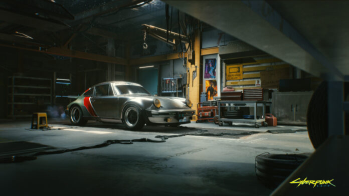 Johnny Silverhand's Porsche 911 in Cyberpunk 2077