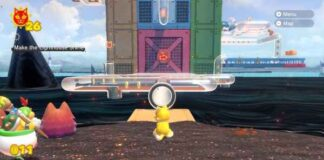 Bowser's Fury Pipe Path Tower Cat Shine Locations
