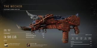 Wicker Legendary SMG Outriders