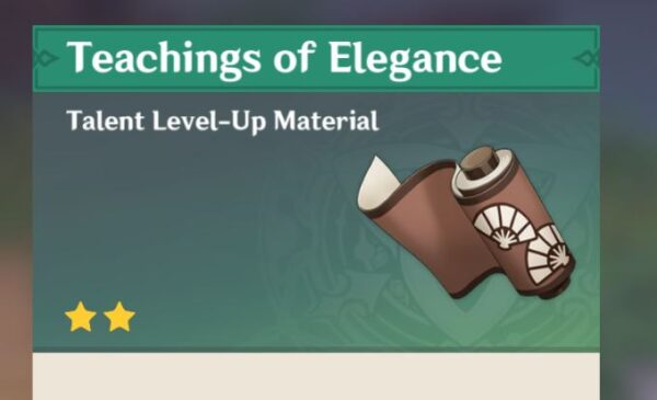 Guide to Elegance Genshin Impact