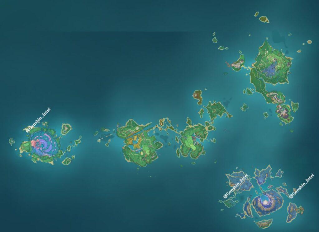 New Inazuma Regions Genshin Impact 2.1