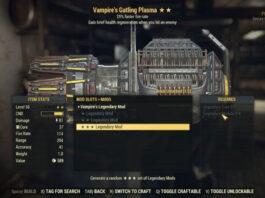Legendary Cores Fallout 76